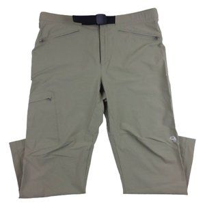 Mountain Hardwear Cargo Pants Belted Tan Nylon